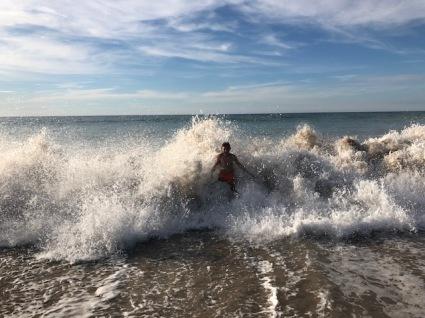 Aiden in surf